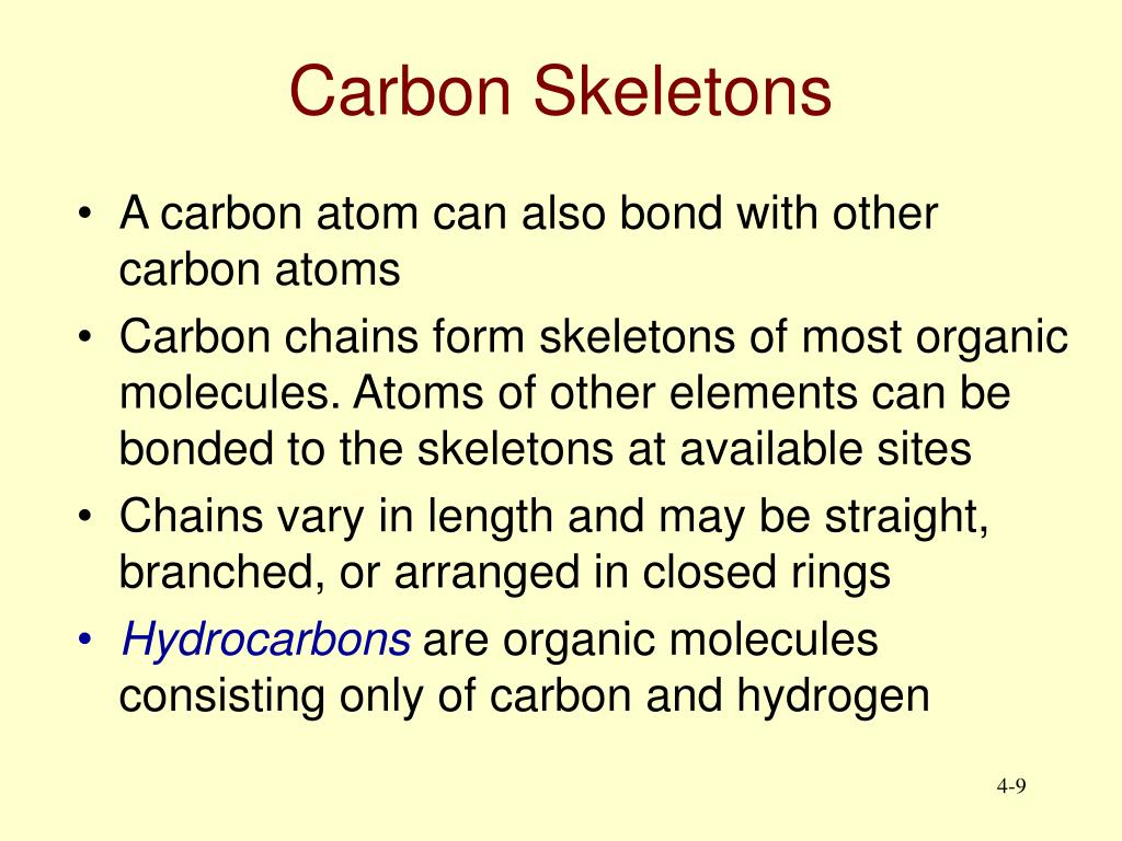 Carbon Skeletons