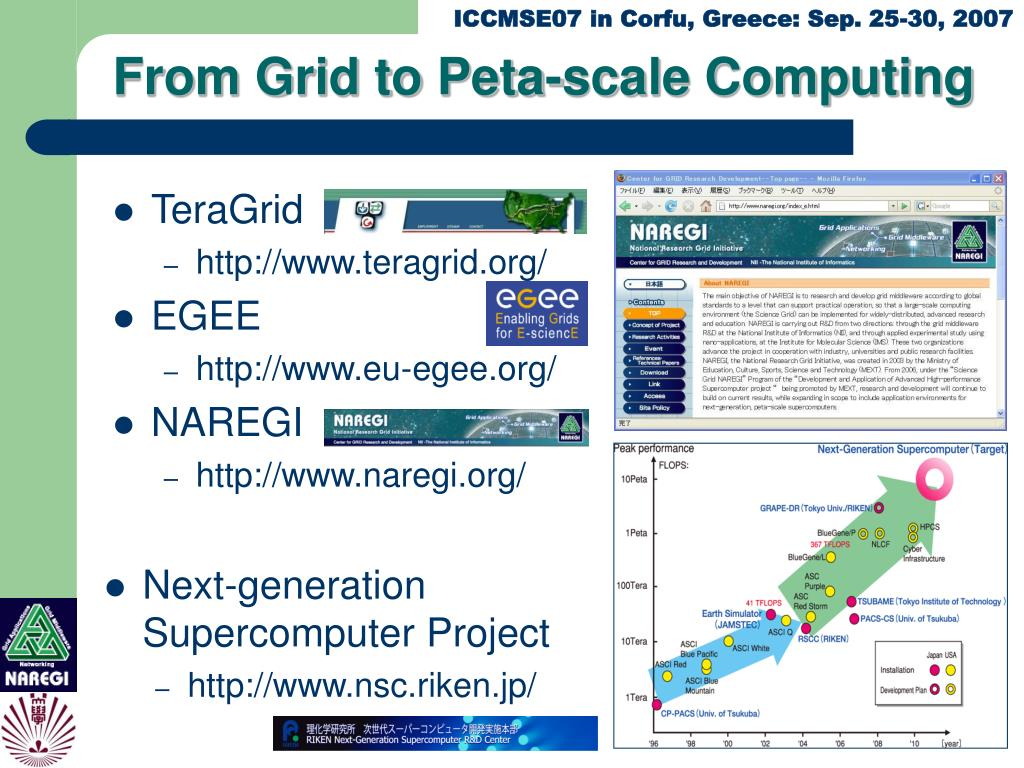 From Grid to Peta-scale Computing