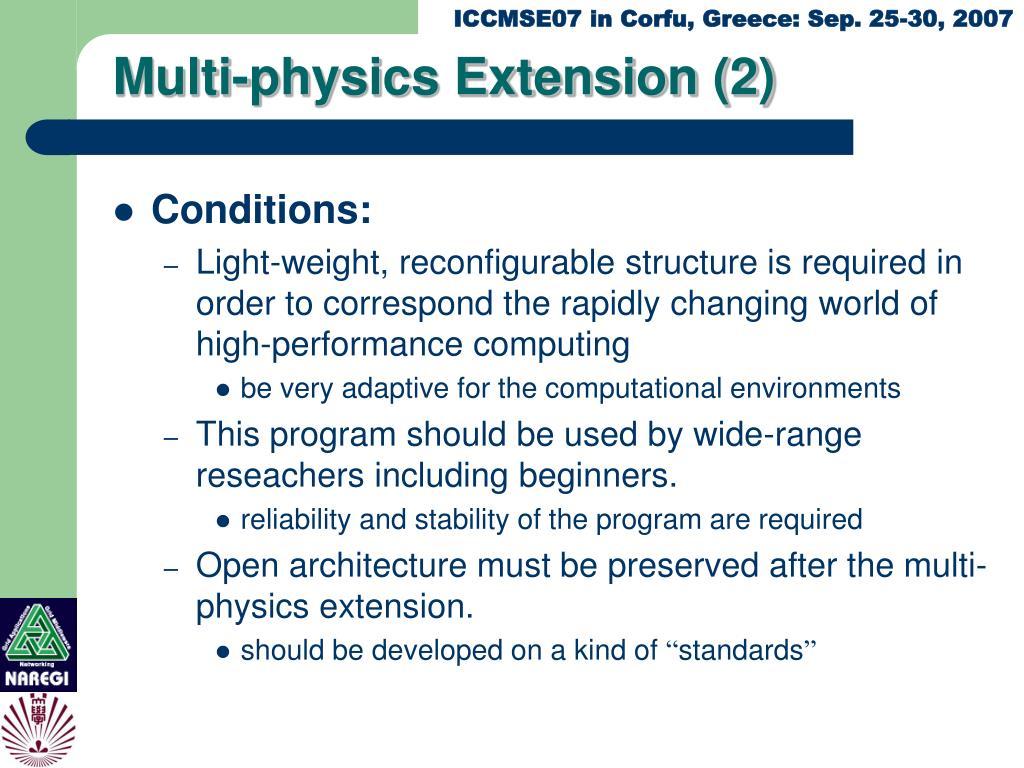 Multi-physics Extension (2)
