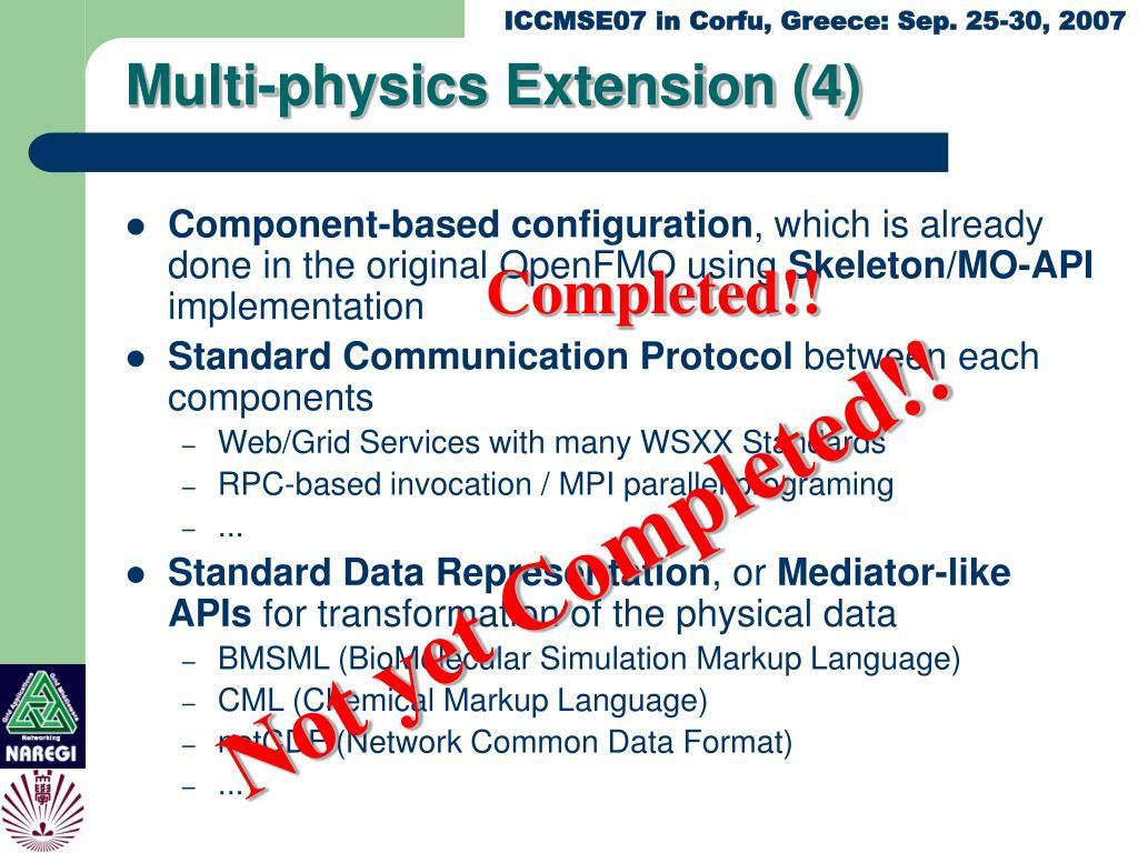 Multi-physics Extension (4)