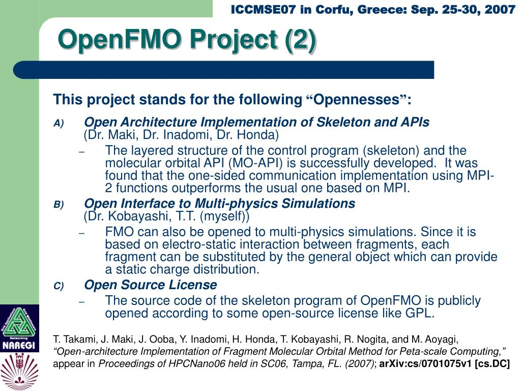 OpenFMO Project (2)