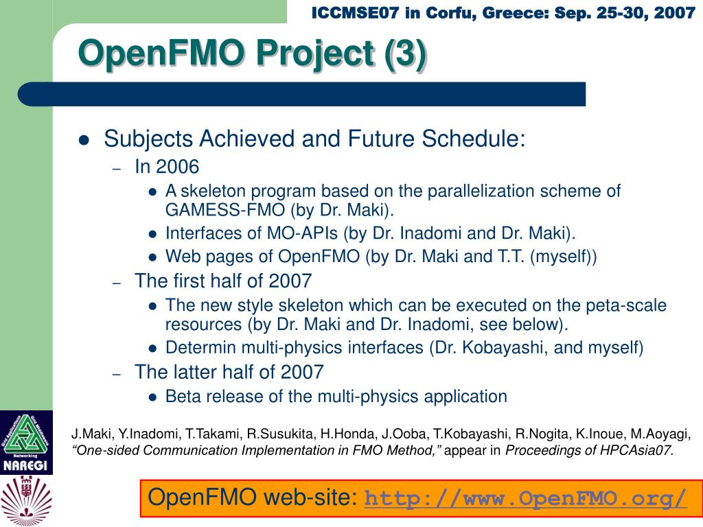 OpenFMO Project (3)