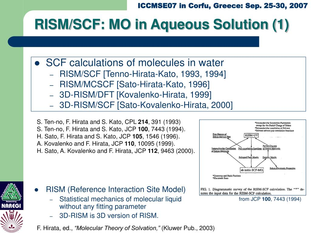 RISM/SCF: MO in Aqueous Solution (1)