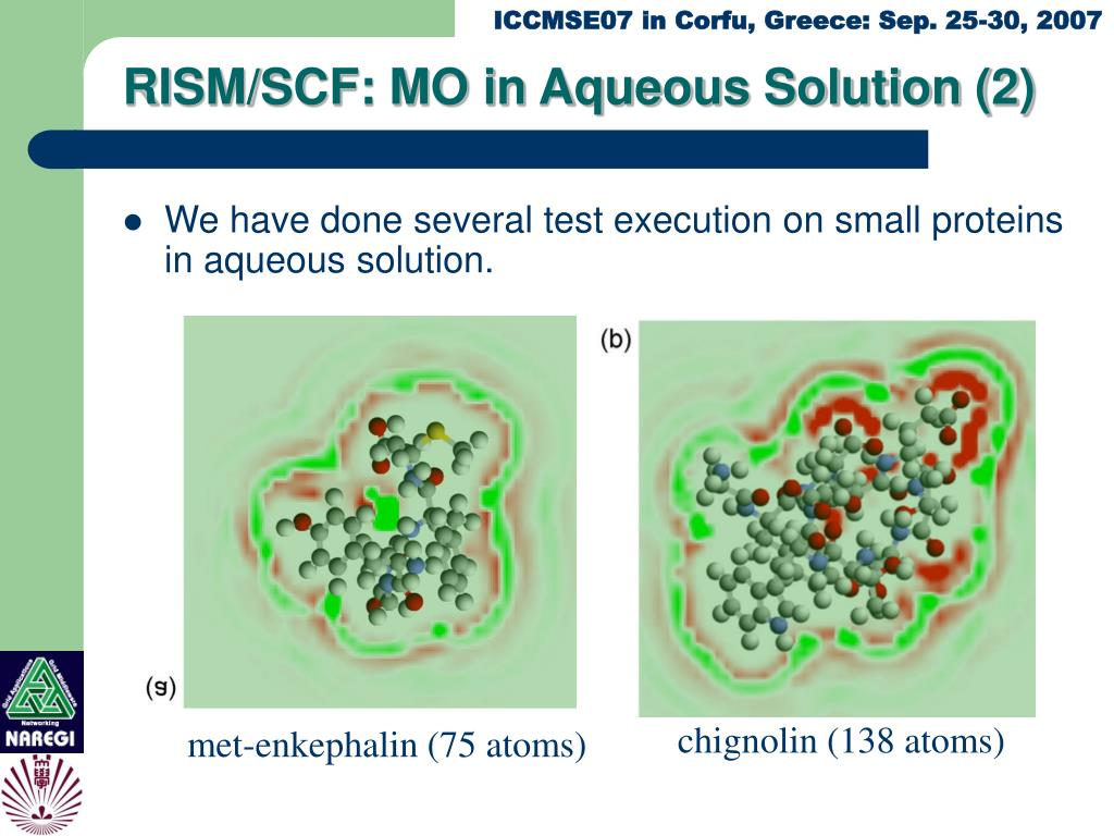RISM/SCF: MO in Aqueous Solution (2)