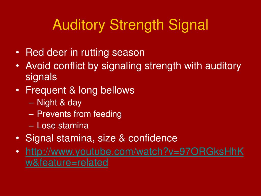 Auditory Strength Signal