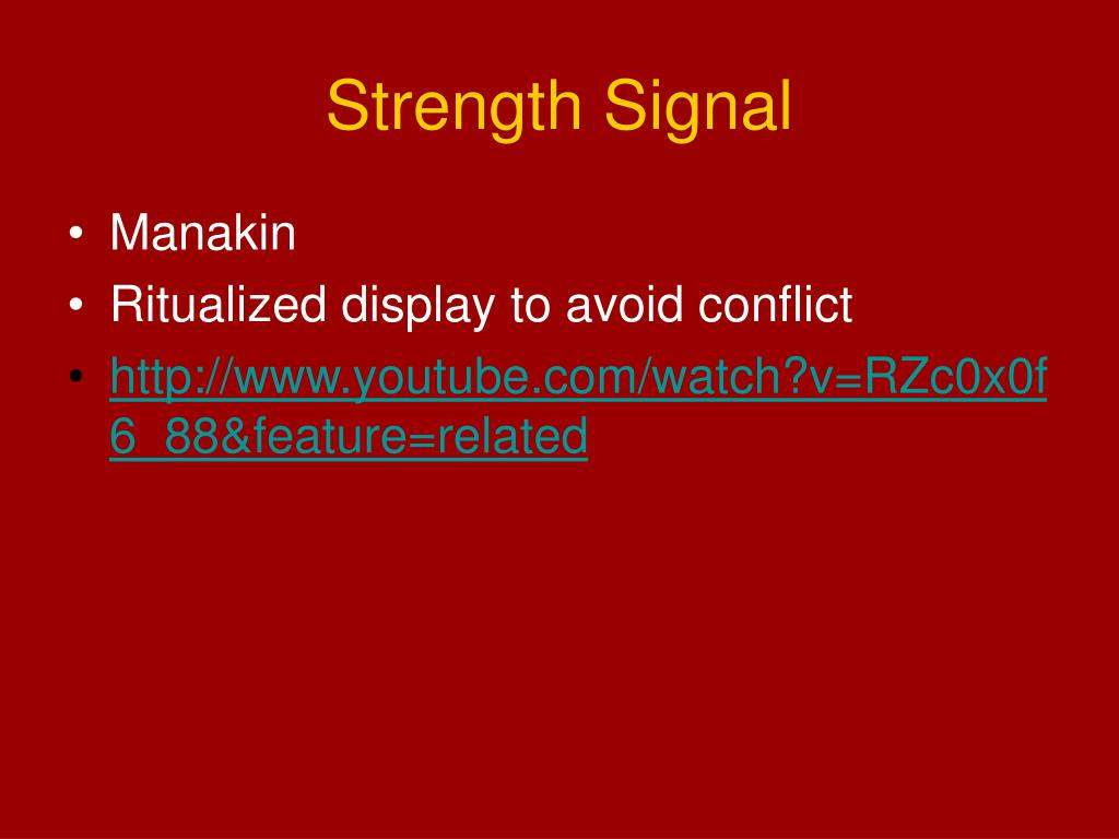 Strength Signal
