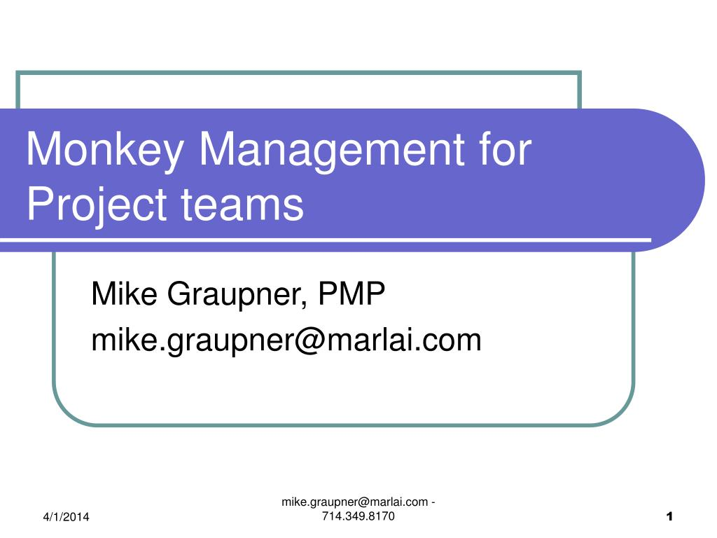 Monkey Management for Project teams