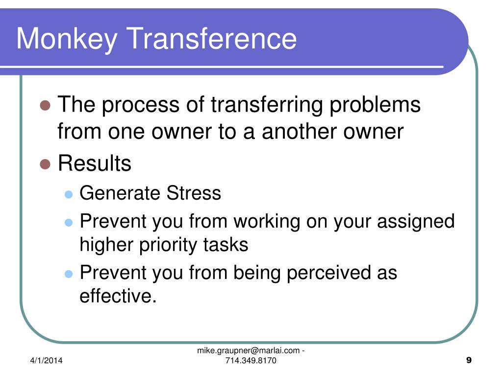 Monkey Transference