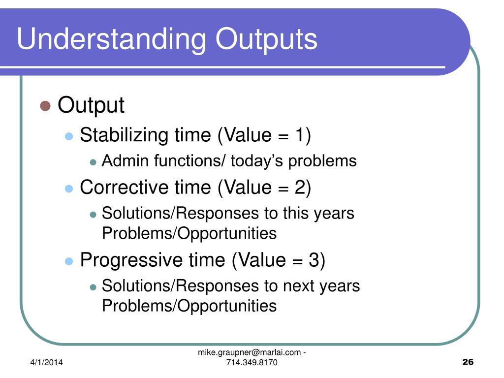 Understanding Outputs
