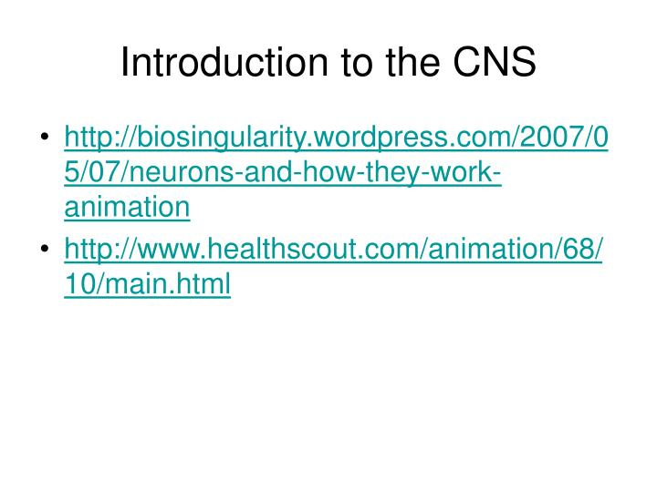 Introduction to the cns l.jpg