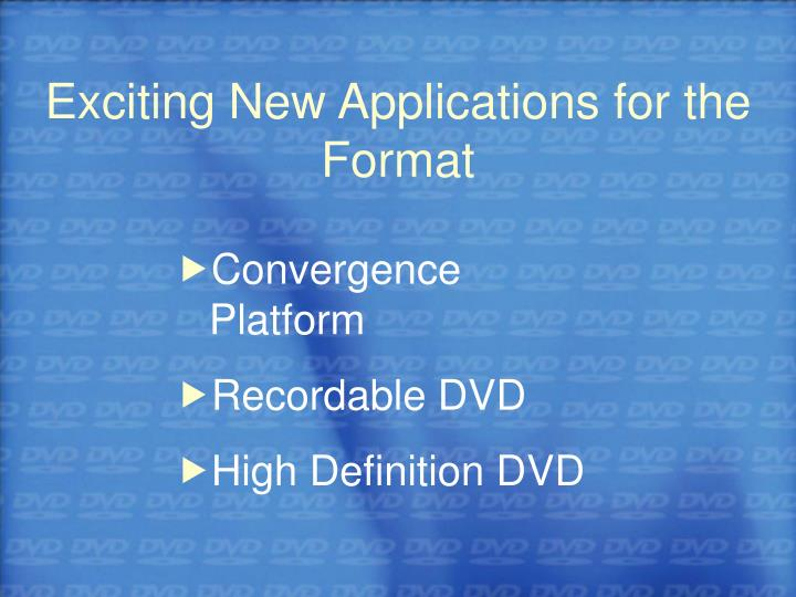 Exciting New Applications for the Format