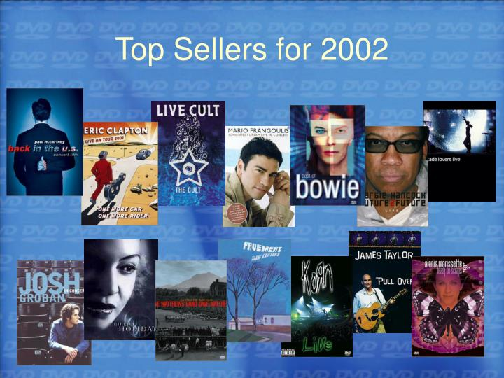 Top Sellers for 2002