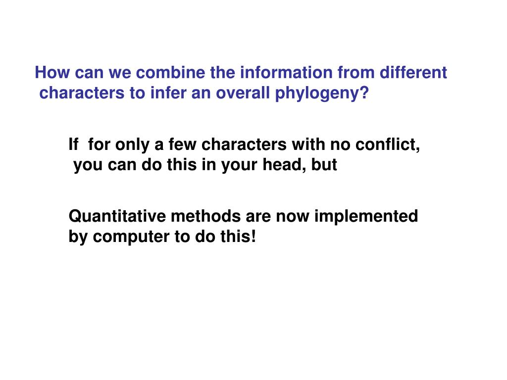 How can we combine the information from different