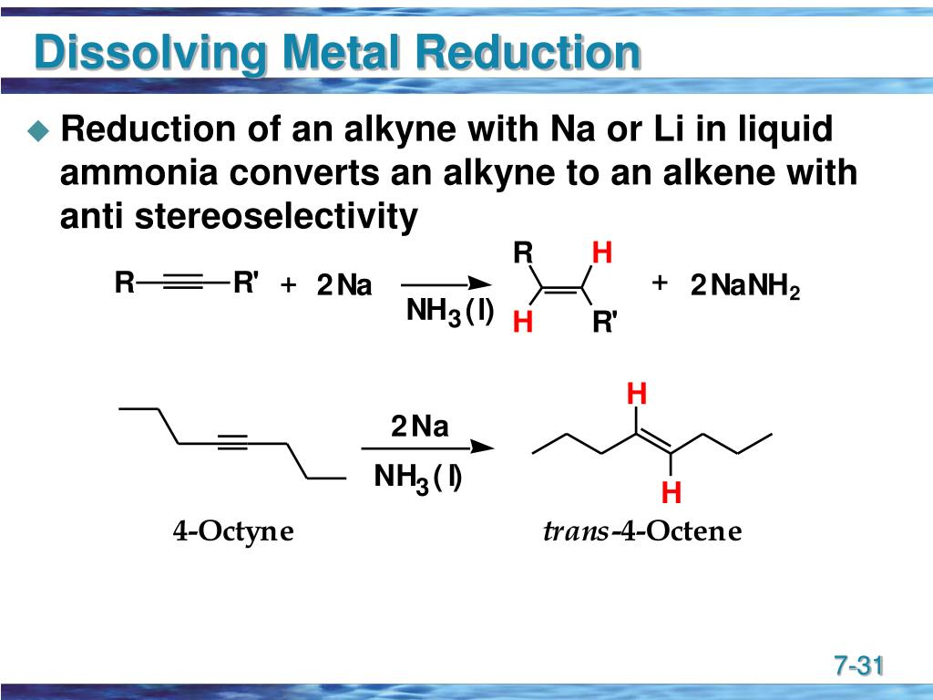 Dissolving Metal Reduction