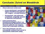 conclusie zuivel en bloeddruk