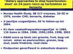 dietary approaches to stop hypertension dieet en 24 jaars risico op hartziekten en beroerte