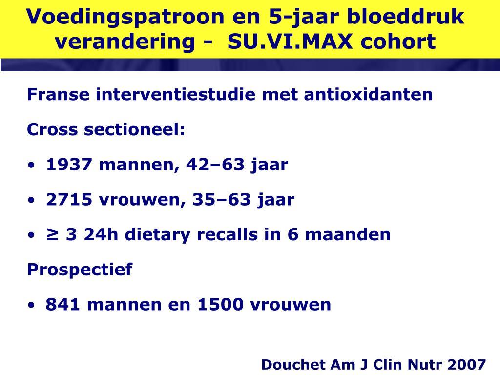 Voedingspatroon en 5-jaar bloeddruk  verandering -  SU.VI.MAX cohort