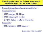 voedingspatroon en 5 jaar bloeddruk verandering su vi max cohort
