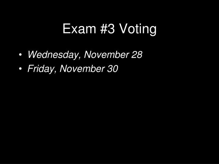 Exam 3 voting l.jpg