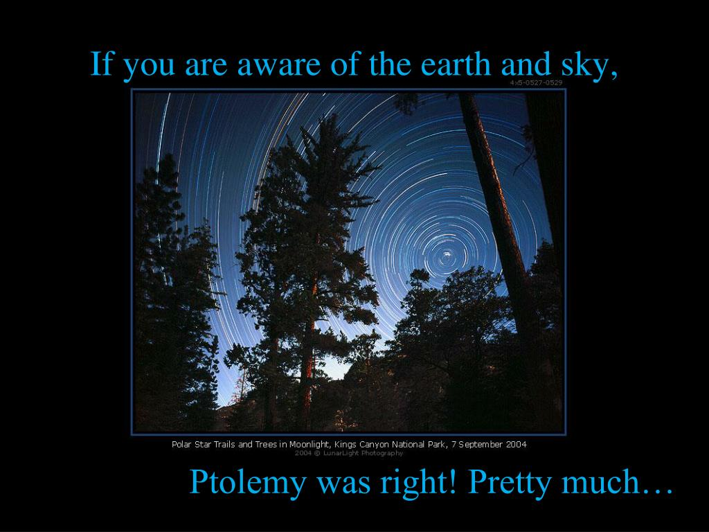 If you are aware of the earth and sky,