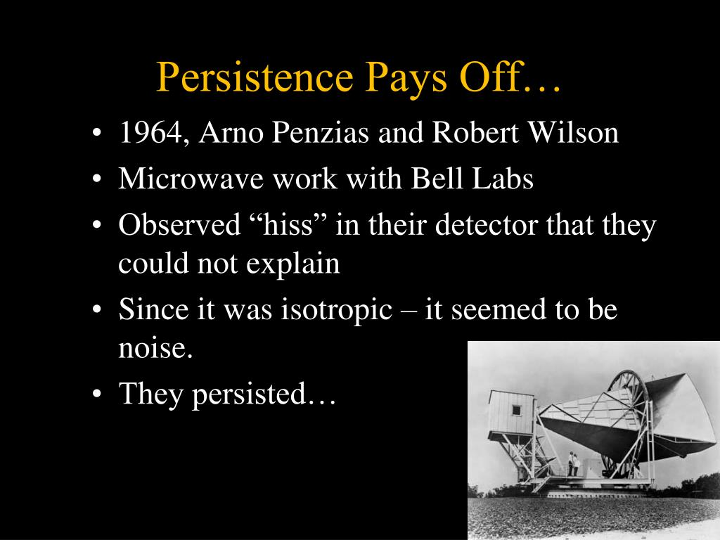 Persistence Pays Off…