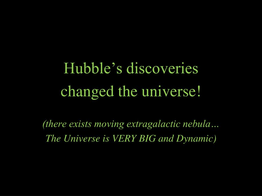 Hubble's discoveries