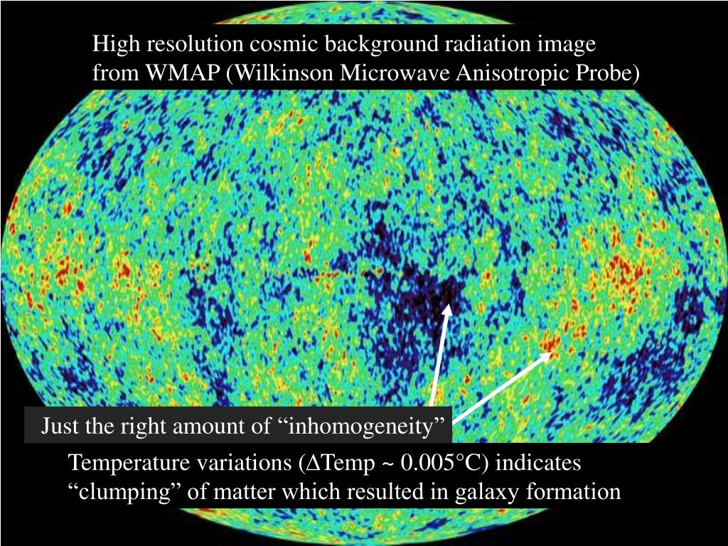 High resolution cosmic background radiation image from WMAP (Wilkinson Microwave Anisotropic Probe)