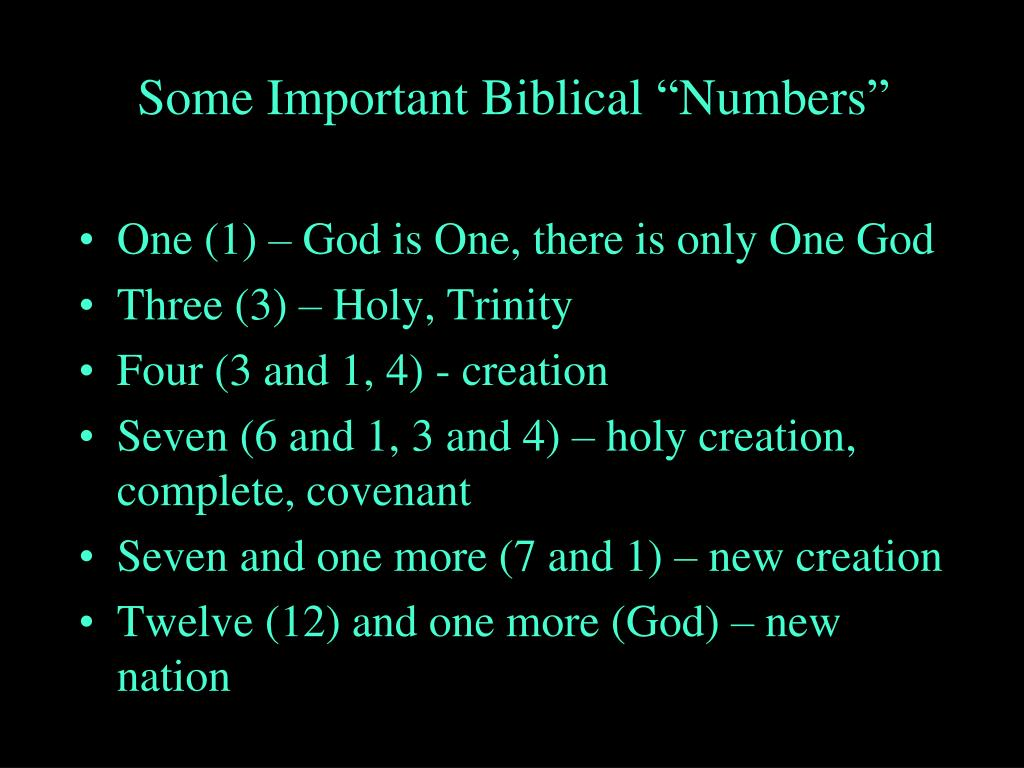 "Some Important Biblical ""Numbers"""