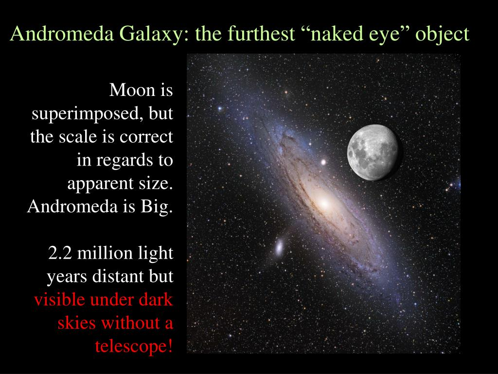 "Andromeda Galaxy: the furthest ""naked eye"" object"
