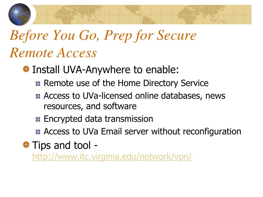 Before You Go, Prep for Secure Remote Access