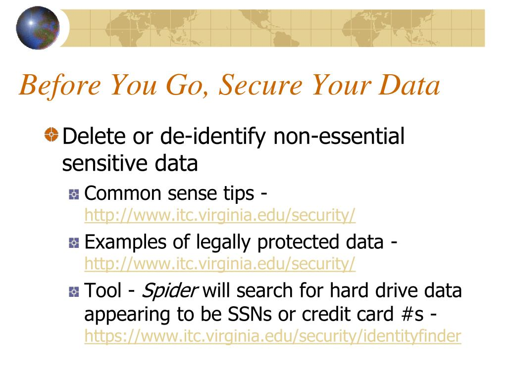 Before You Go, Secure Your Data