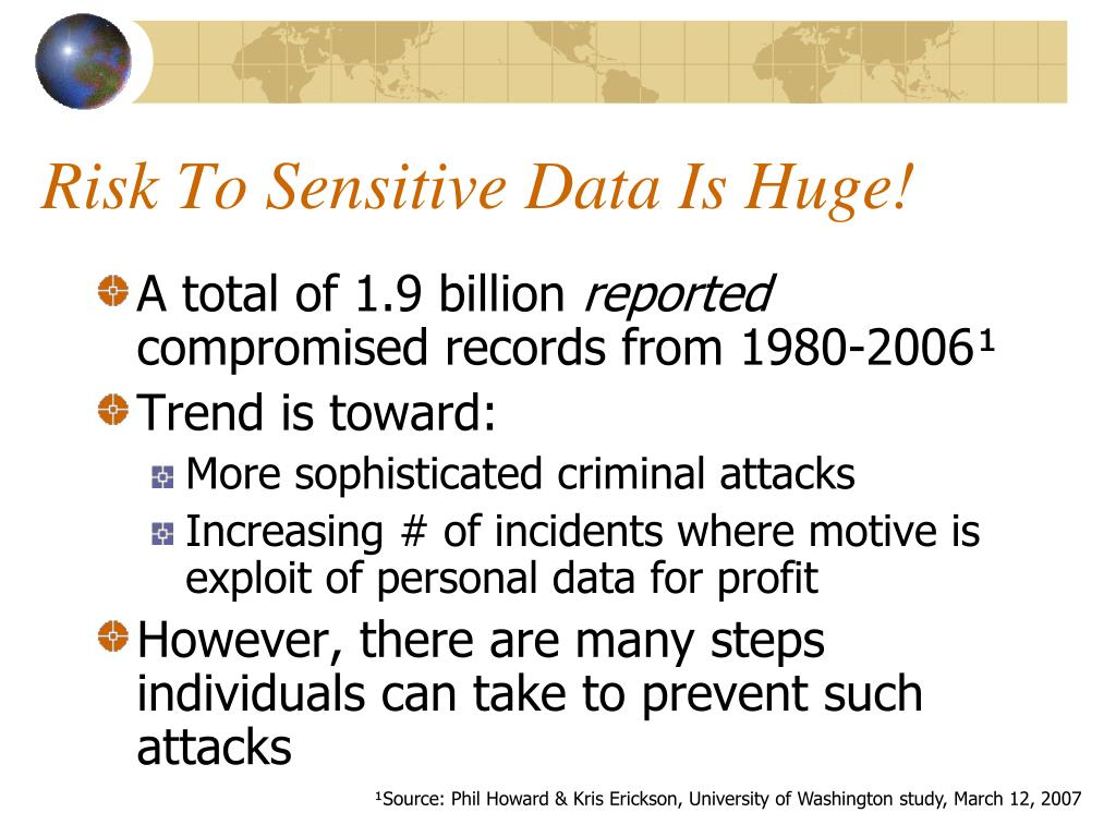 Risk To Sensitive Data Is Huge!