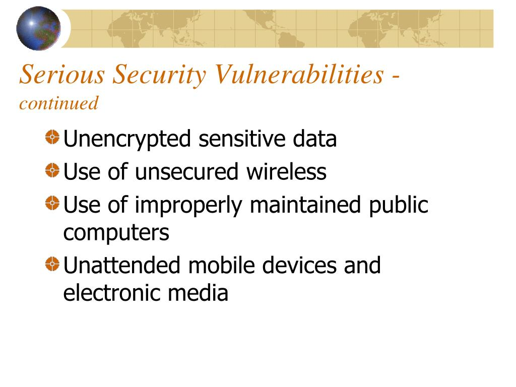 Serious Security Vulnerabilities -