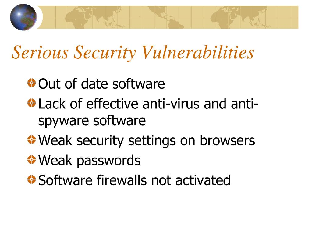 Serious Security Vulnerabilities