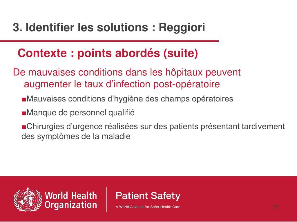 De mauvaises conditions dans les hôpitaux peuvent augmenter le taux d'infection post-opératoire