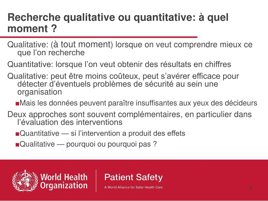 Recherche qualitative ou quantitative: à quel moment ?