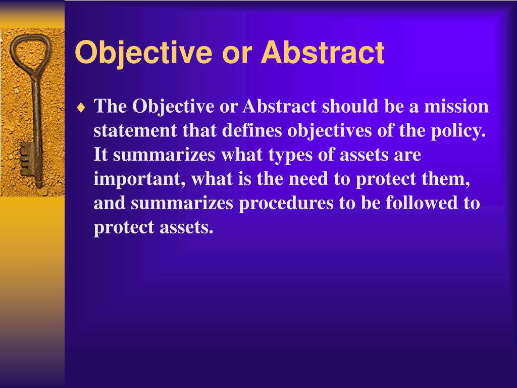 Objective or Abstract