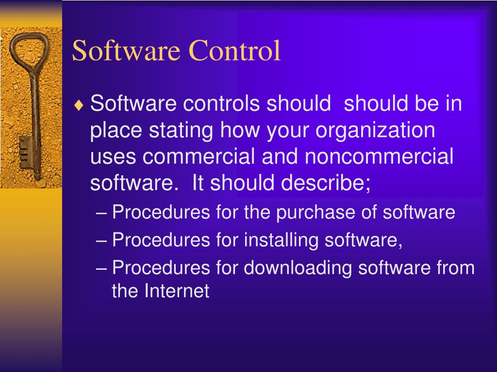 Software Control