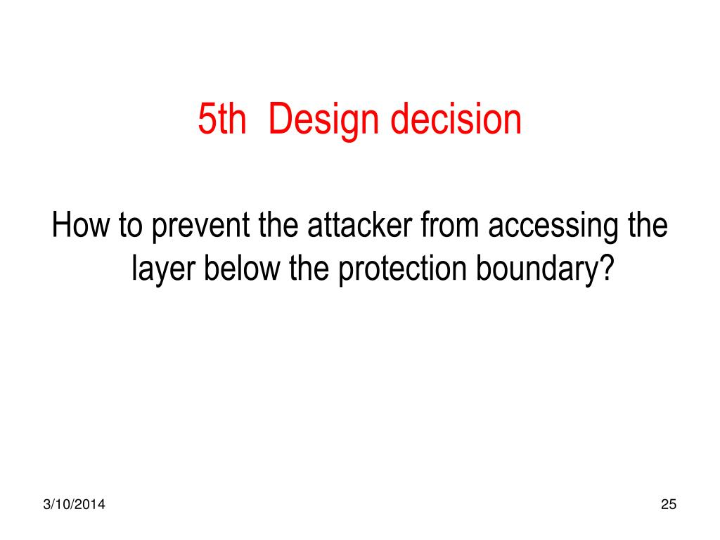 5th  Design decision