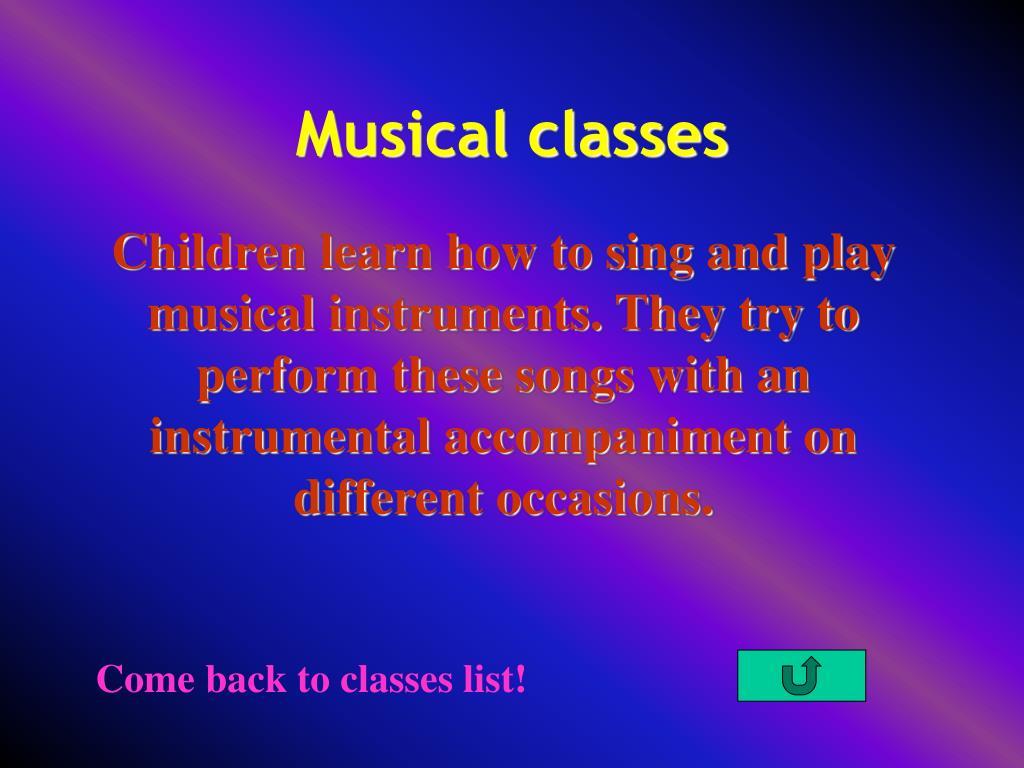 Musical classes