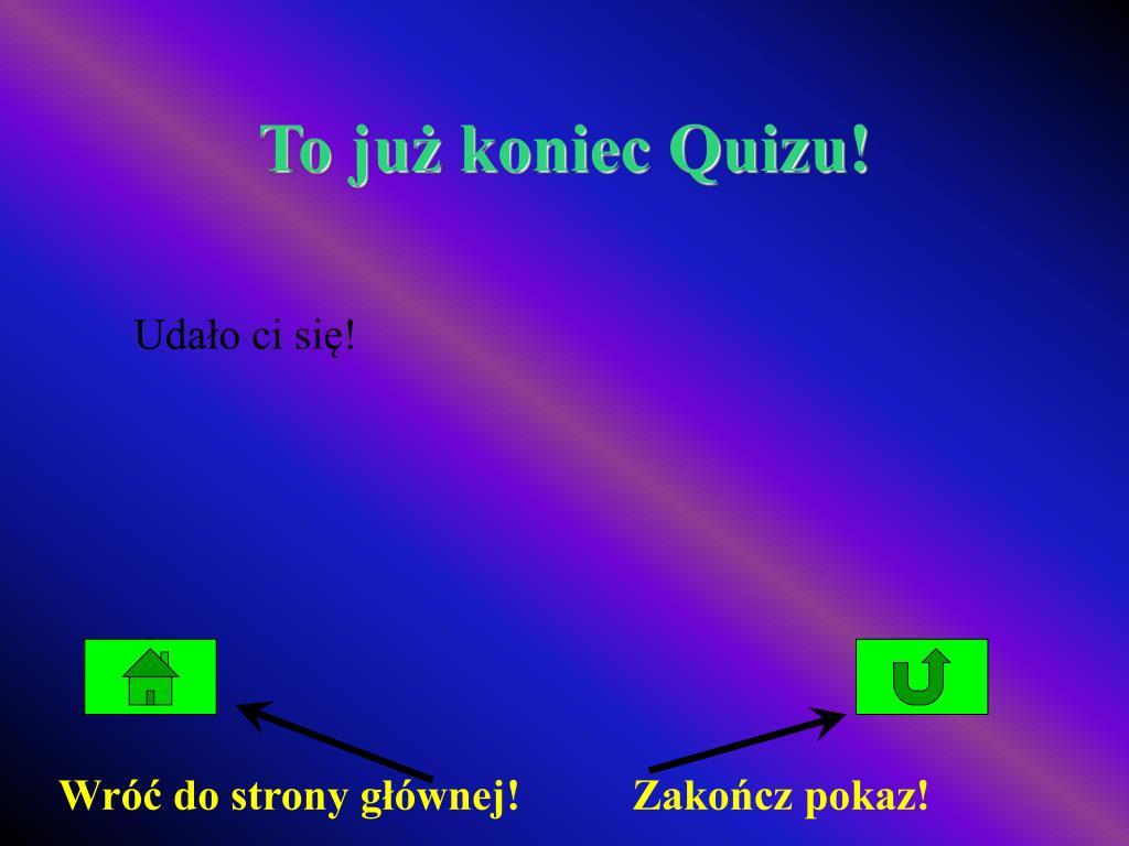 To już koniec Quizu!