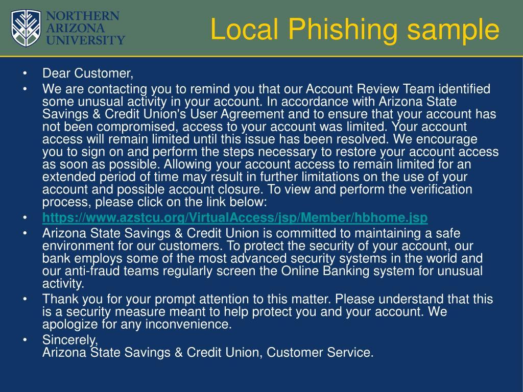 Local Phishing sample