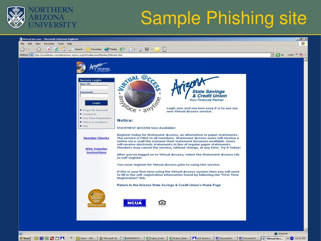 Sample Phishing site