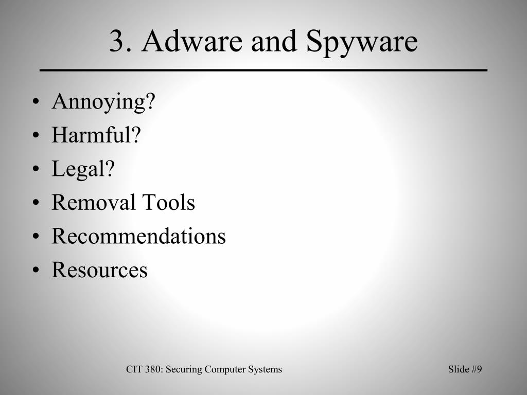 3. Adware and Spyware