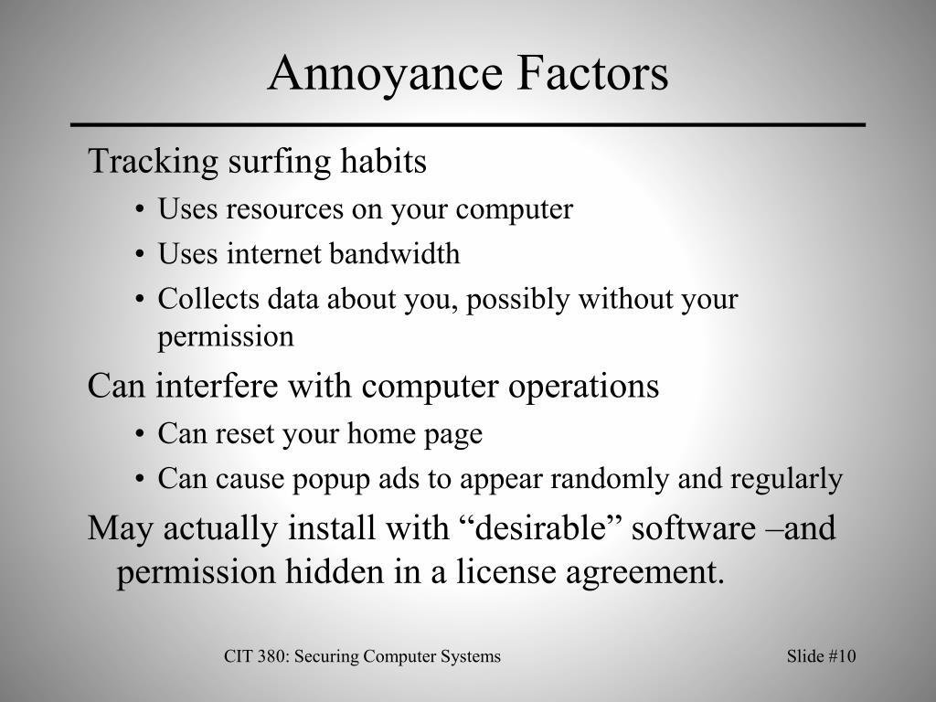 Annoyance Factors
