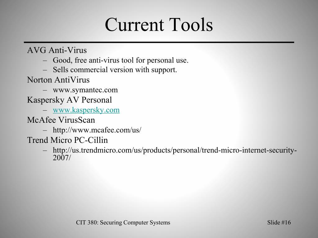 Current Tools