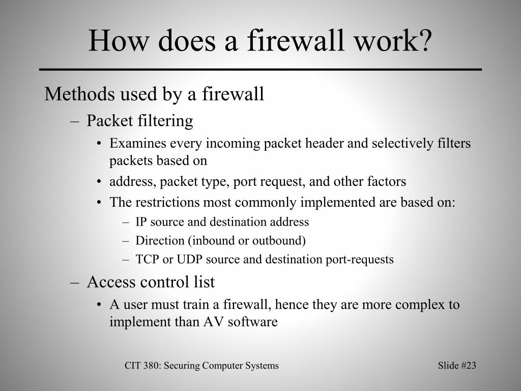 How does a firewall work?