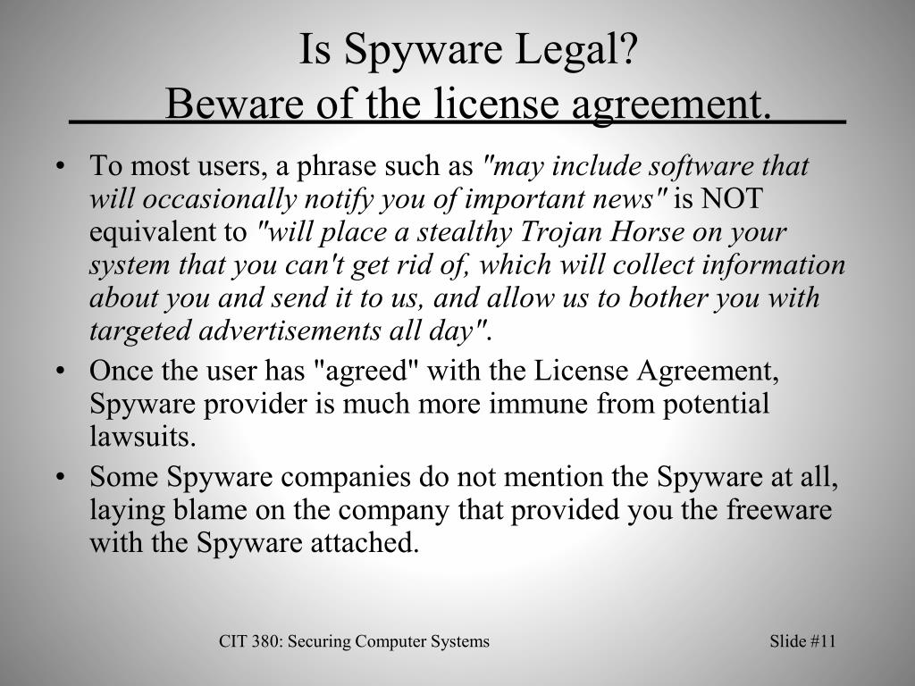 Is Spyware Legal?