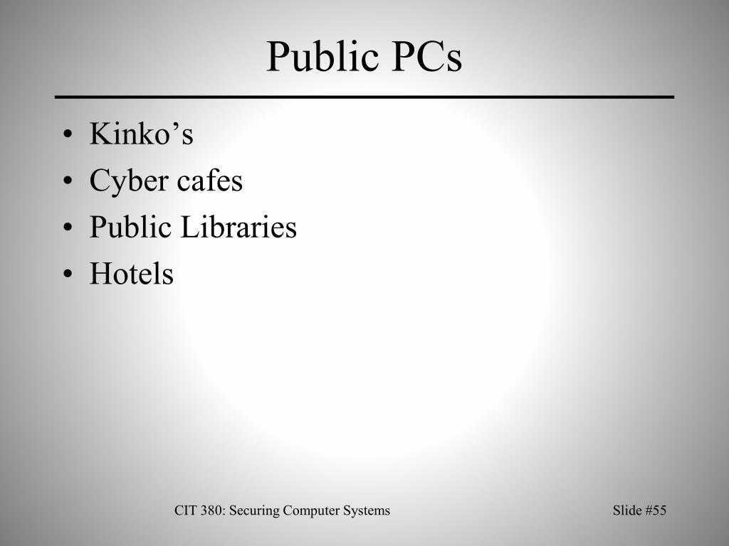 Public PCs