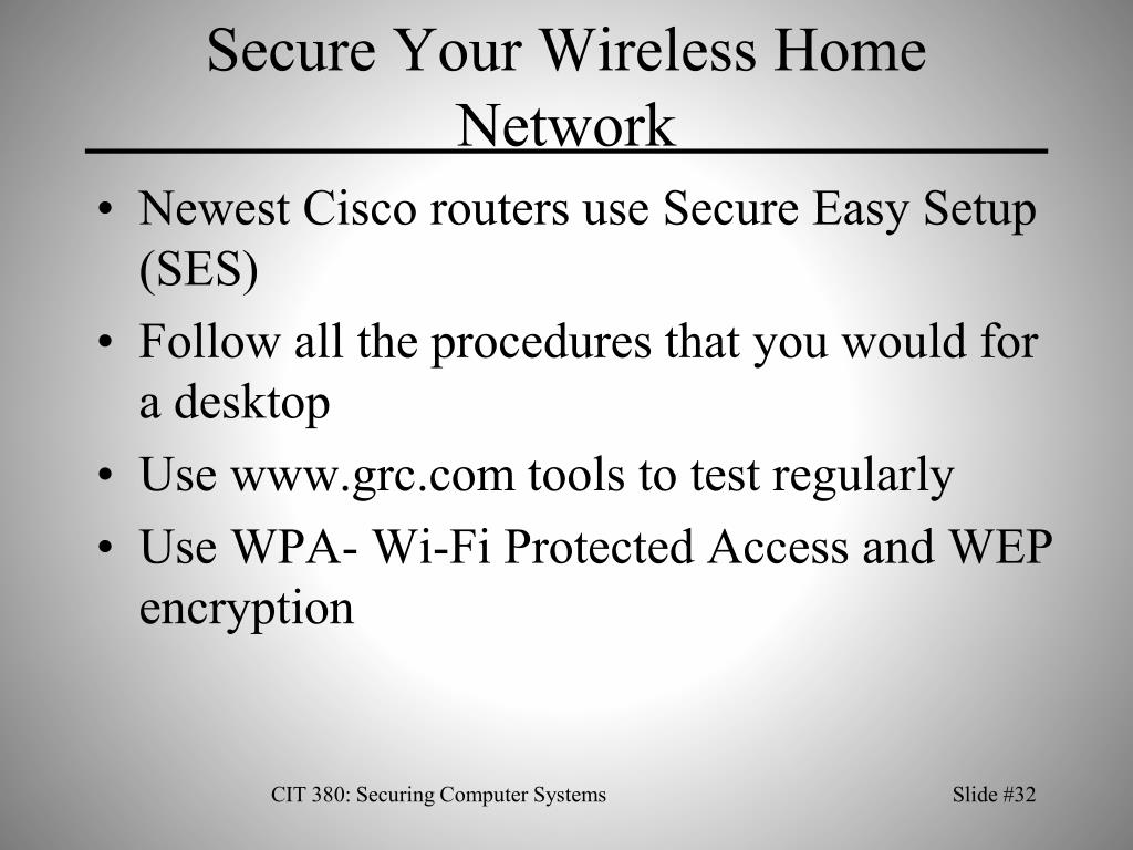Secure Your Wireless Home Network